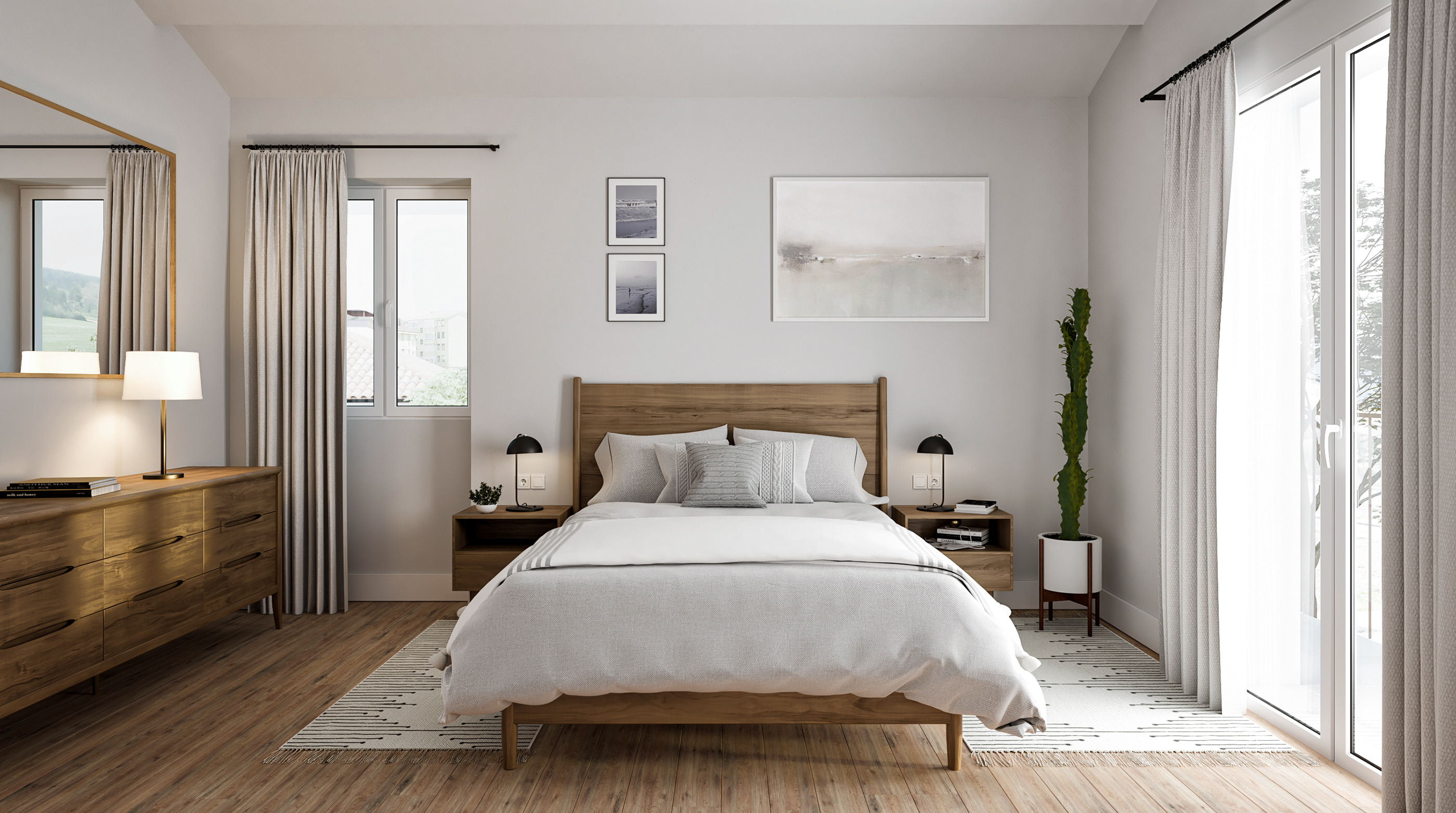 architectural visualization of bedroom