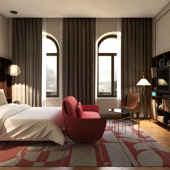 architectural visualization of dubai's bedroom