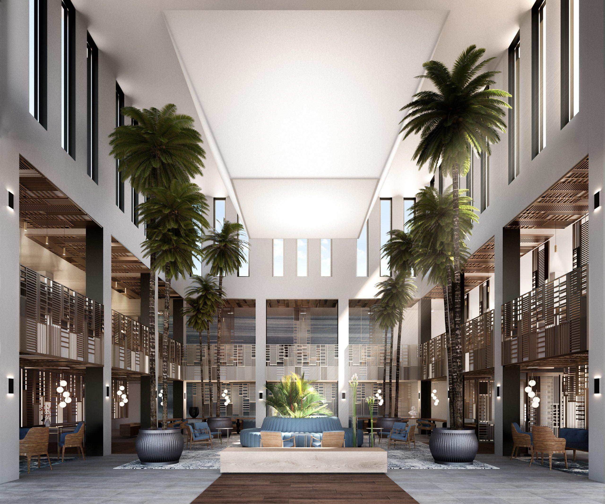 visualización arquitectónica de hotel andalusia